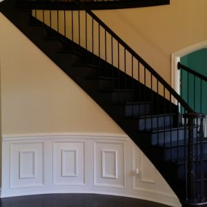 Curved Stair And Wainscote Fenton Lakes Building