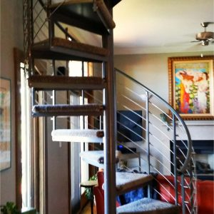 Steel Spiral Staircase By Fenton Lakes Building